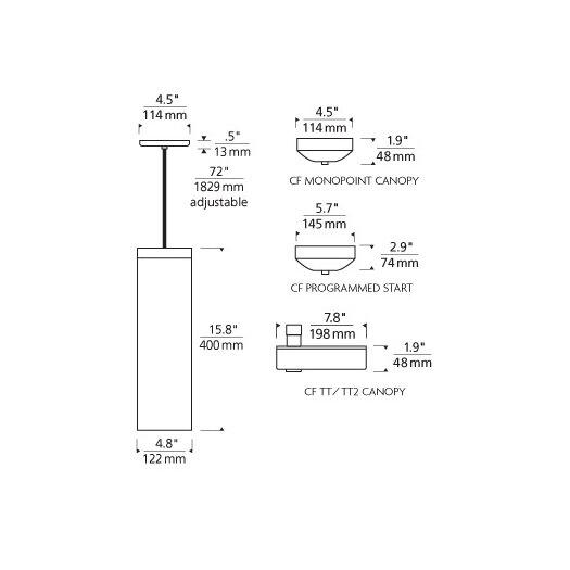 Tech Lighting Hudson 2-Circuit 1 Light Mini Pendant