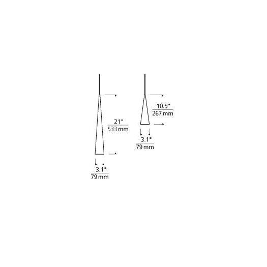 Tech Lighting Pinnacle 1 Light Monorail Pendant