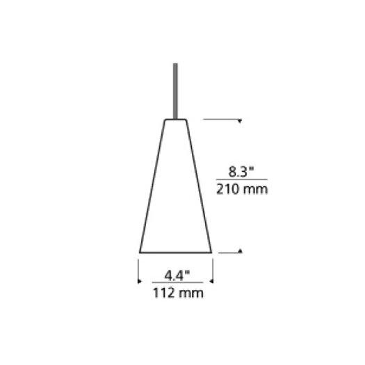 Tech Lighting Taza 2-Circuit 1 Light Mini Pendant