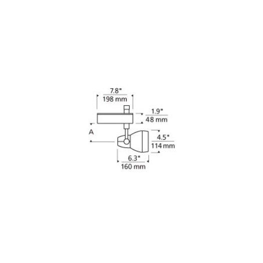 Tech Lighting Om 1-Circuit 1 Light Ceramic Metal Halide T4 70W Track Light Head with 30° Beam Spread