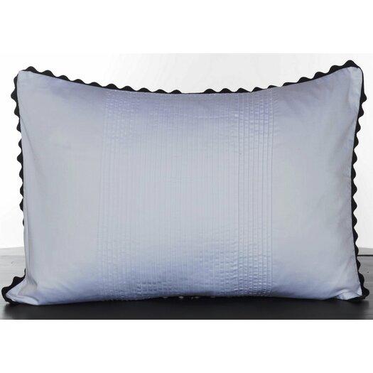 Vera Wang Pom Pom Satin Pleated Cotton Lumbar Pillow