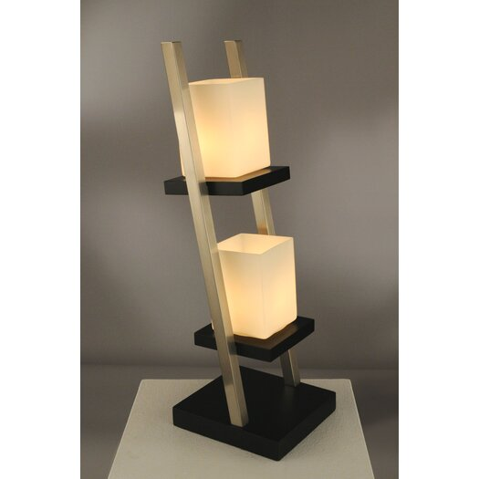 """Nova Escalier 29"""" H Table Lamp with Square Shade"""