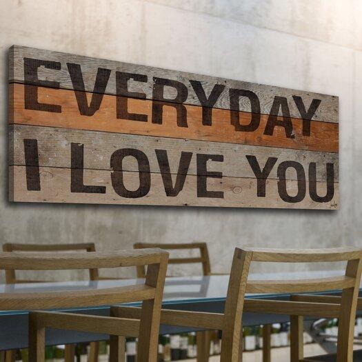 Jen Lee Art Everyday I Love You Stencil Textual Art Plaque