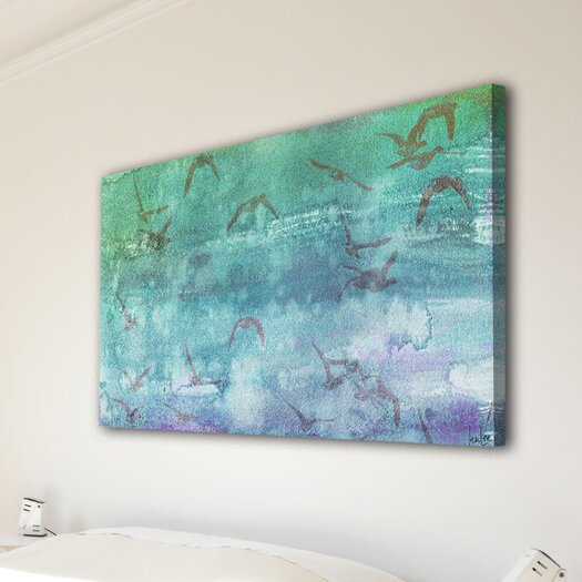 Jen Lee Art Clouds Up Graphic Art on Wrapped Canvas