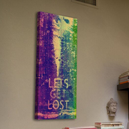 Jen Lee Art Lets Get Lost Graphic Art on Wrapped Canvas
