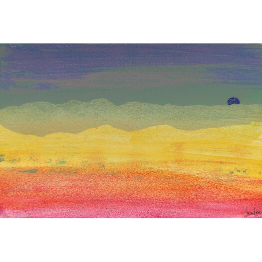 Desert Sun Graphic Art on Wrapped Canvas