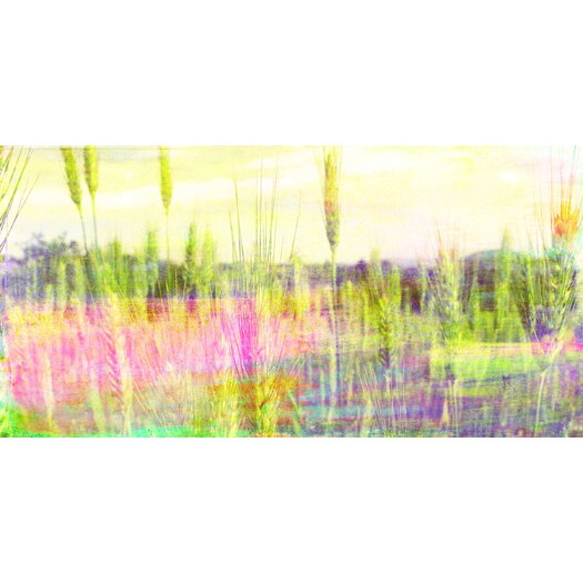 Jen Lee Art Green Grass Graphic Art on Wrapped Canvas