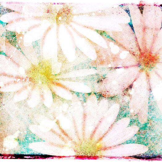 Jen Lee Art Daisies Graphic Art on Wrapped Canvas