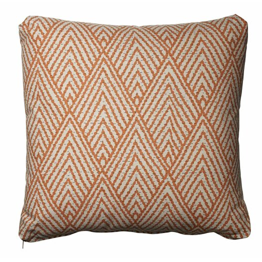 Homeware Tangerine Cotton Throw Pillow