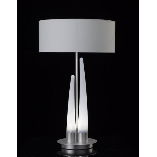 """Contempo Lights Inc Barcelo 35"""" H Table Lamp with Drum Shade"""