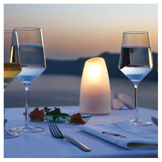"""Contempo Lights Inc LuminArt Odyssey LED Rechargeable Designer 9"""" H Table Lamp with Novelty Shade"""