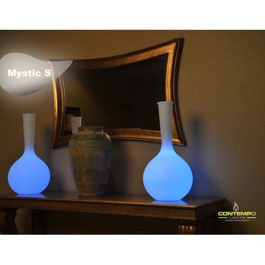 """Contempo Lights Inc LuminArt Mystic S 32"""" H Table Lamp with Novelty Shade"""