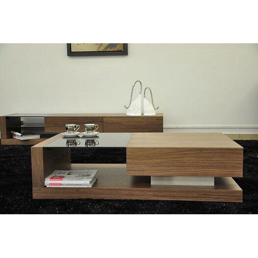 Beliani Porto Contemporary Coffee Table with Glass Top