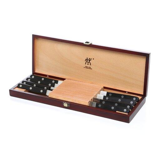 Zwilling JA Henckels Twin Gourmet 8 Piece Steak Knife Set with Decorative Box