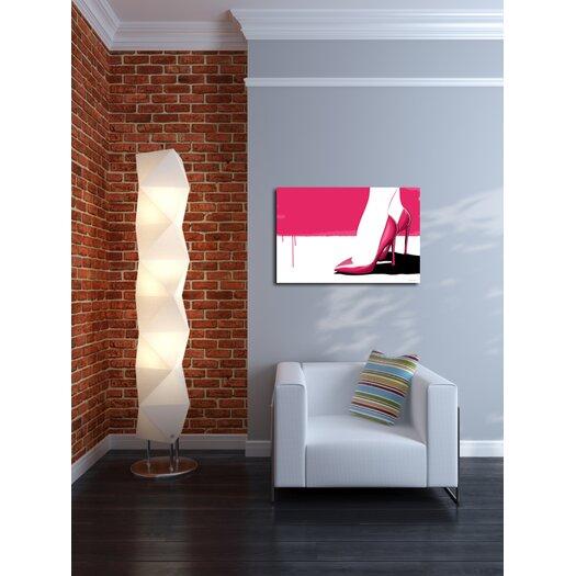 "Maxwell Dickson ""Pink Stilettos"" Graphic Art on Canvas"