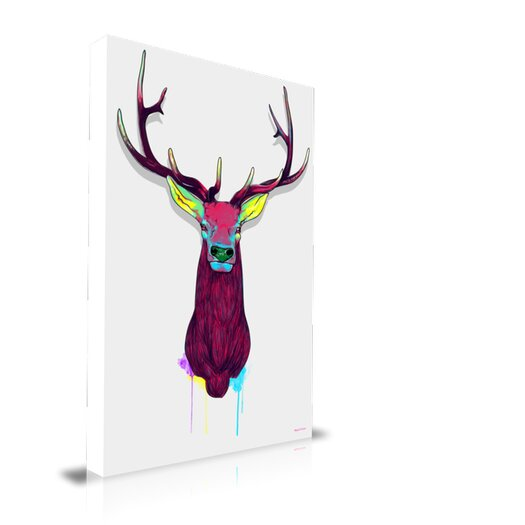 "Maxwell Dickson ""Elk Head"" Graphic Art on Wrapped Canvas"
