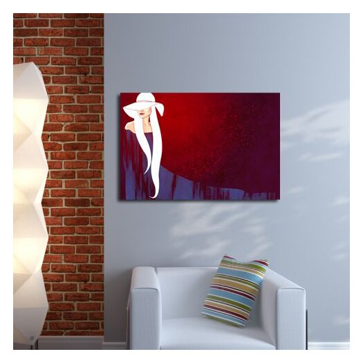 Maxwell Dickson Lady in Hat Graphic Art on Canvas