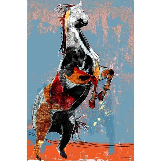 Maxwell Dickson Fighting Horse Painting Print on Wrapped Canvas