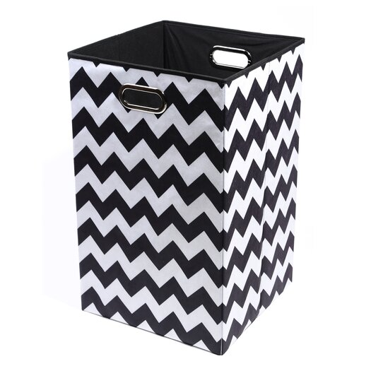 Modern Littles Bold Chevron Folding Laundry Basket