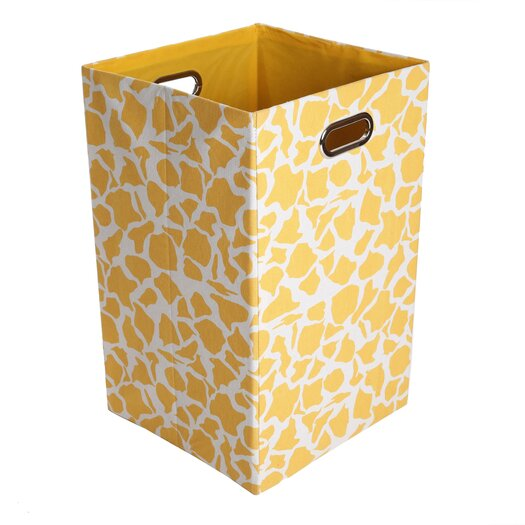 Modern Littles Rusty Giraffe Folding Laundry Basket