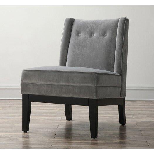 TOV Furniture Alexander Velvet Side Chair in Grey