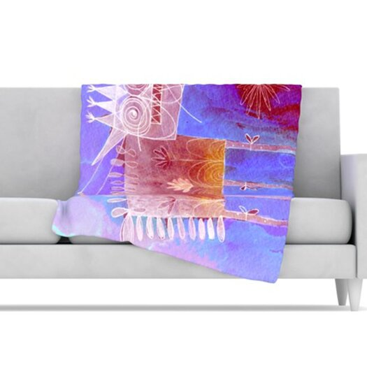 KESS InHouse Scary Song about Love Fleece Throw Blanket