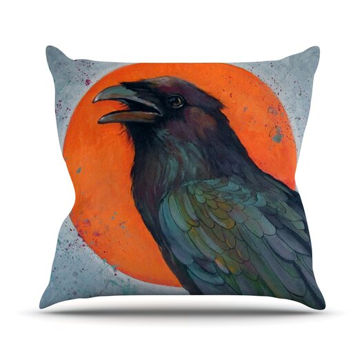 KESS InHouse Raven Sun Throw Pillow