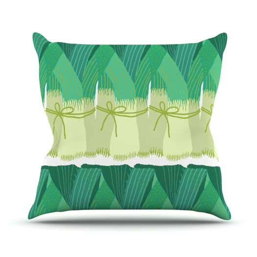 KESS InHouse Leeks Throw Pillow