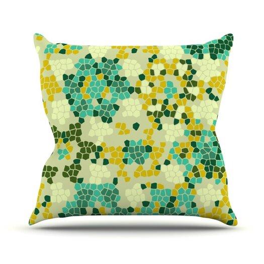 KESS InHouse Flower Garden Mosaic Throw Pillow