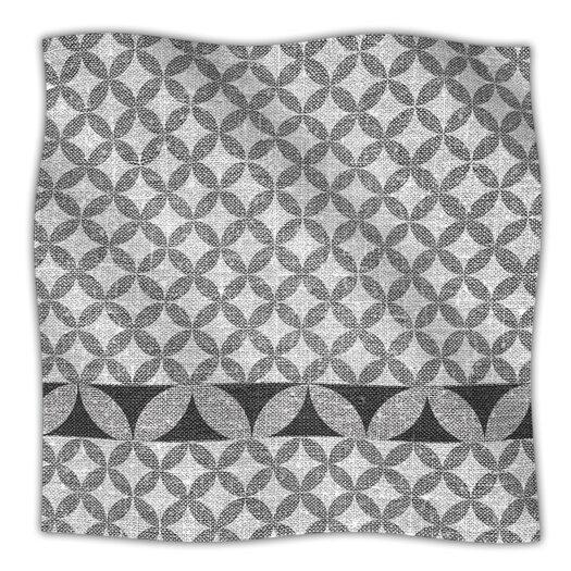 KESS InHouse Diamond Black Throw Blanket