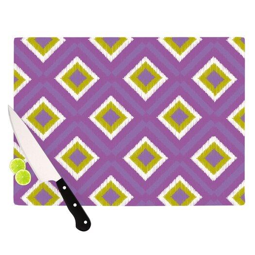 KESS InHouse Purple Splash Tile Cutting Board