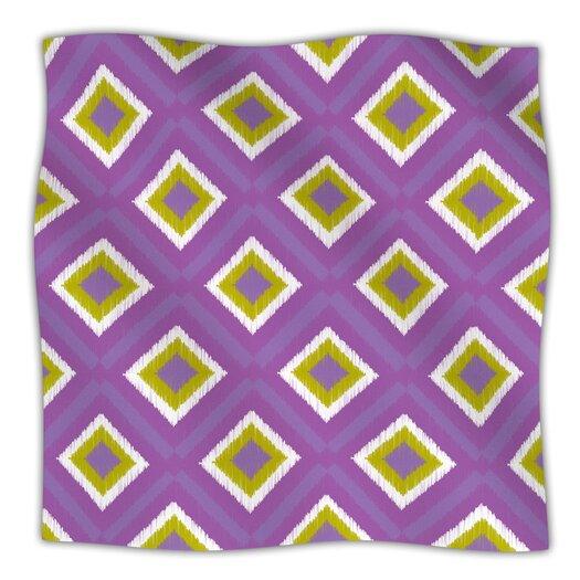KESS InHouse Purple Splash Tile Throw Blanket