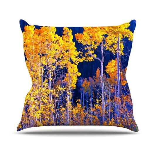 KESS InHouse Aspen Trees Throw Pillow