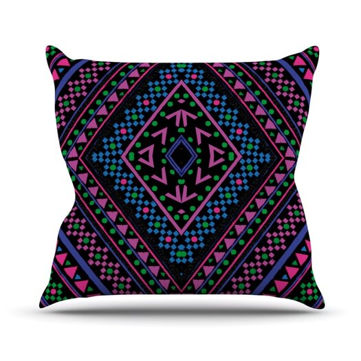 KESS InHouse Neon Pattern Throw Pillow