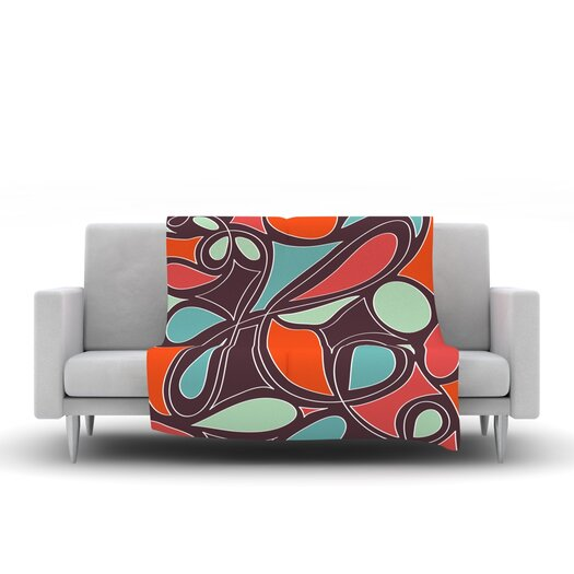 KESS InHouse Retro Swirl Throw Blanket