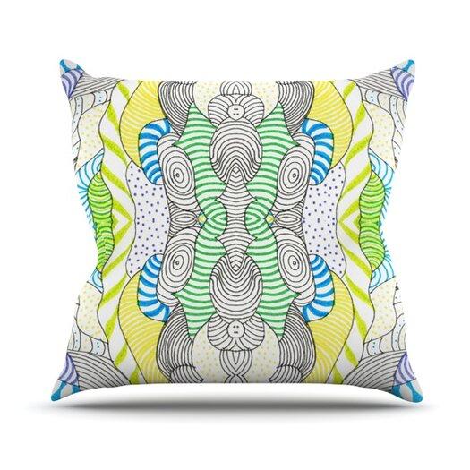 KESS InHouse Wormland Throw Pillow