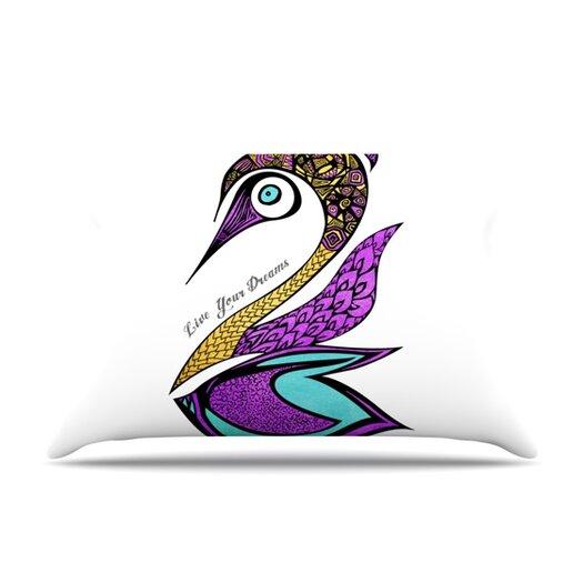 KESS InHouse Dreams Swan Pillow Case