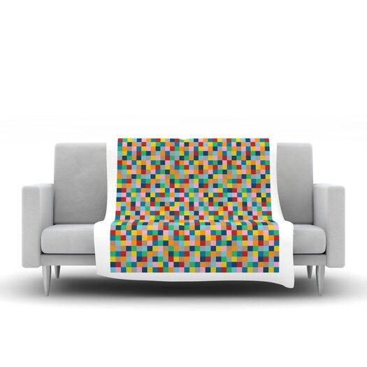 KESS InHouse Colour Blocks Throw Blanket