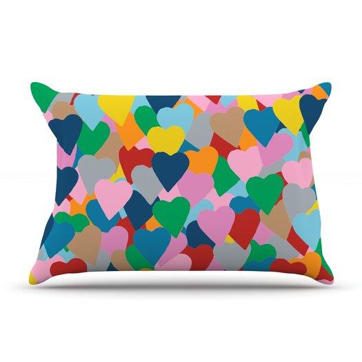 KESS InHouse More Hearts Pillow Case