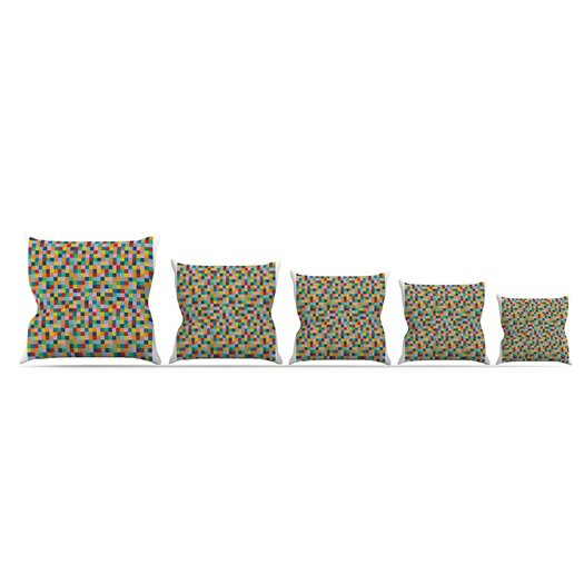 KESS InHouse Colour Blocks Throw Pillow