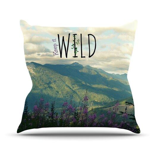 KESS InHouse Keep It Wild Throw Pillow