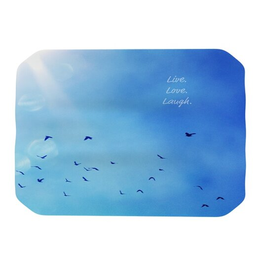 KESS InHouse Live Laugh Love Placemat