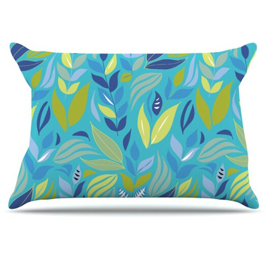 KESS InHouse Underwater Bouquet Pillowcase