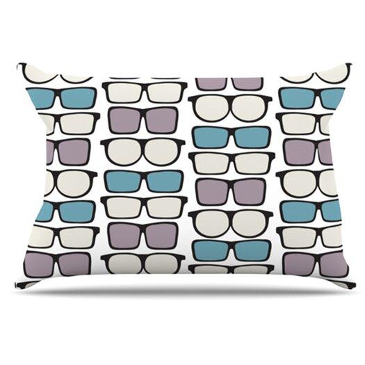 KESS InHouse Spectacles Geek Chic Pillowcase