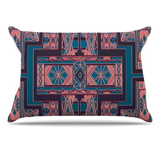 KESS InHouse Golden Art Deco Pillowcase