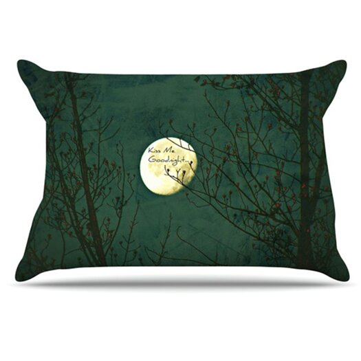 KESS InHouse Kiss Me Goodnight Pillowcase