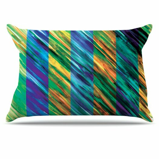 KESS InHouse Set Stripes II Pillowcase