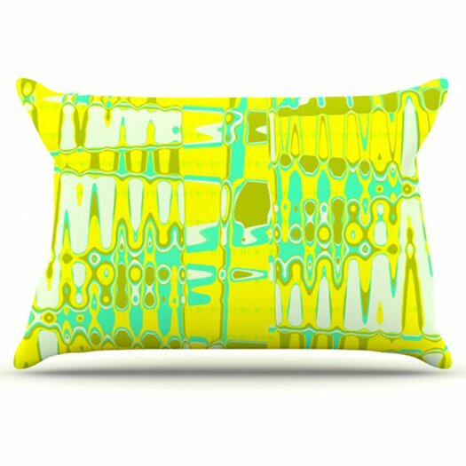KESS InHouse Changing Gears in Sunshine Pillowcase