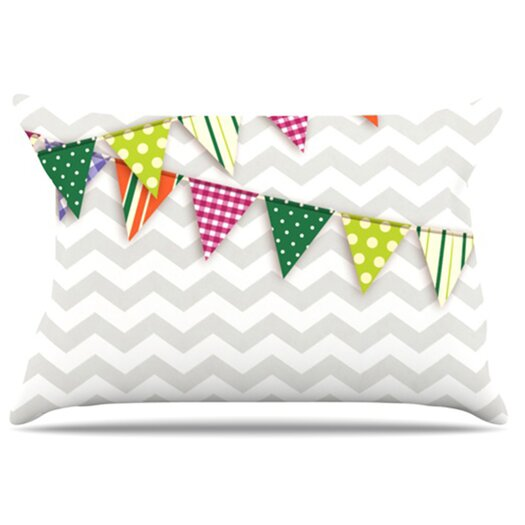 KESS InHouse Flags 1 Pillowcase