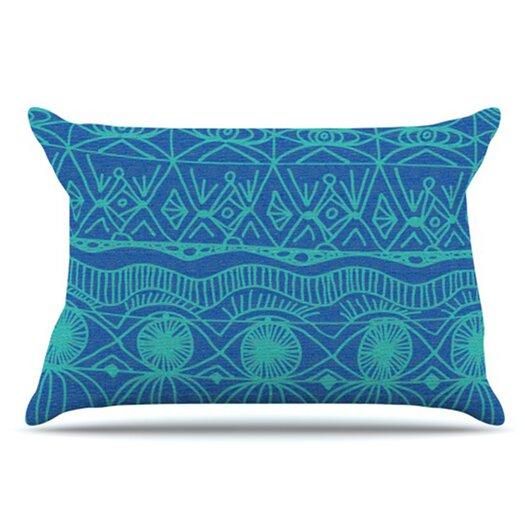 KESS InHouse Beach Blanket Confusion Pillowcase